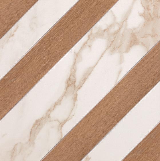 Roma Diamond Righe Calacatta Bark Avana de Fap Ceramiche | Carrelage céramique
