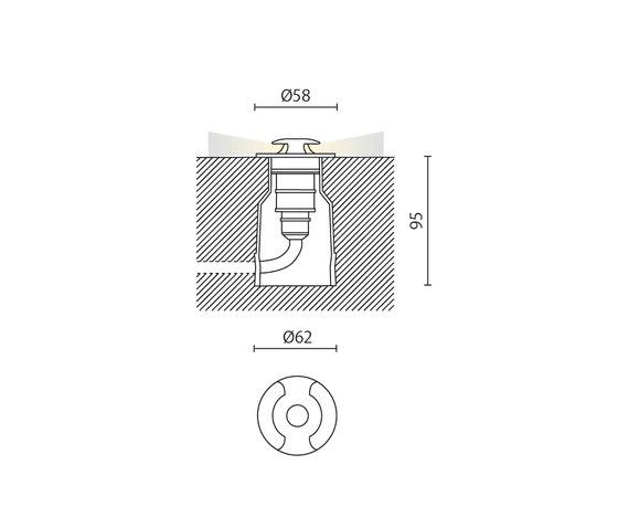 Pleus Bidiffusione di Aqlus | Lampade outdoor pavimento
