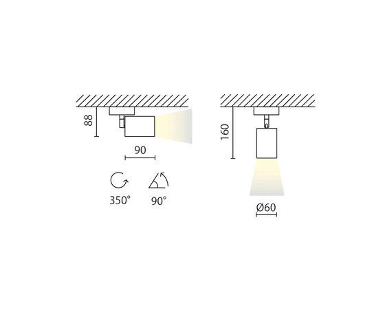 Mike 230V di Aqlus | Lampade plafoniere