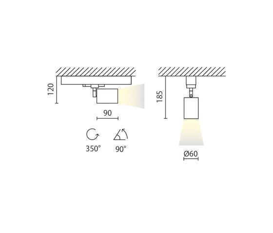 Mike 230V da binario by Aqlus   Ceiling lights