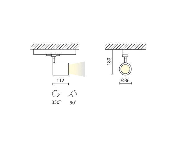 Mike Grande 230V da binario by Aqlus | Ceiling lights