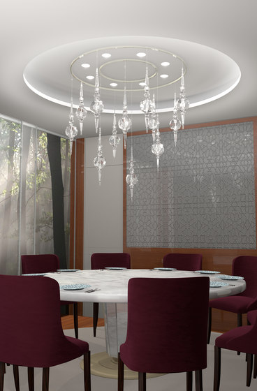 Boule Crystal Opulent Bespoke Dining by Windfall | Suspended lights