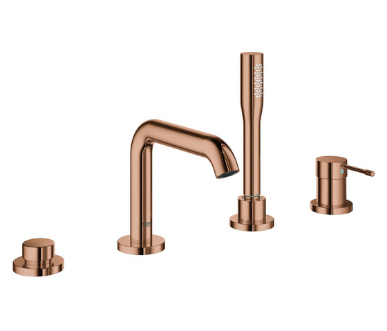 Essence Four-hole single-lever bath combination by GROHE | Bath taps