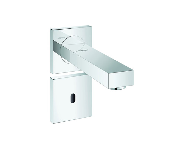 Eurocube E Infra-red electronic wall basin tap without mixing device by GROHE | Wash basin taps