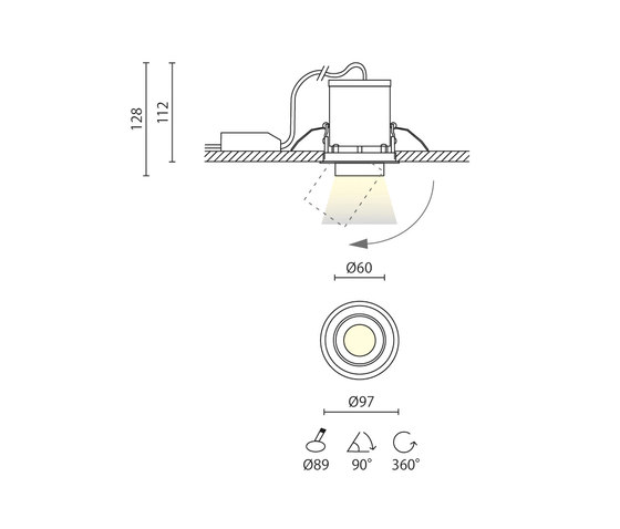 Mike by Aqlus | Recessed ceiling lights