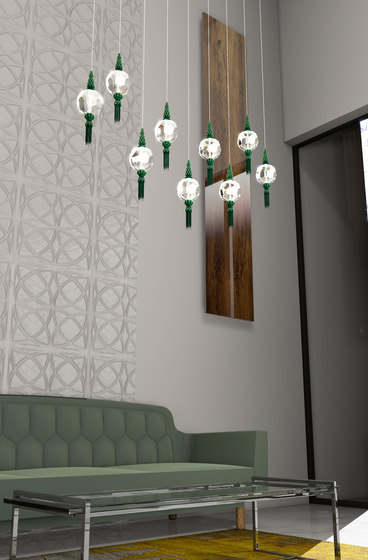 Boule Passement Bespoke Living by Windfall | Suspended lights
