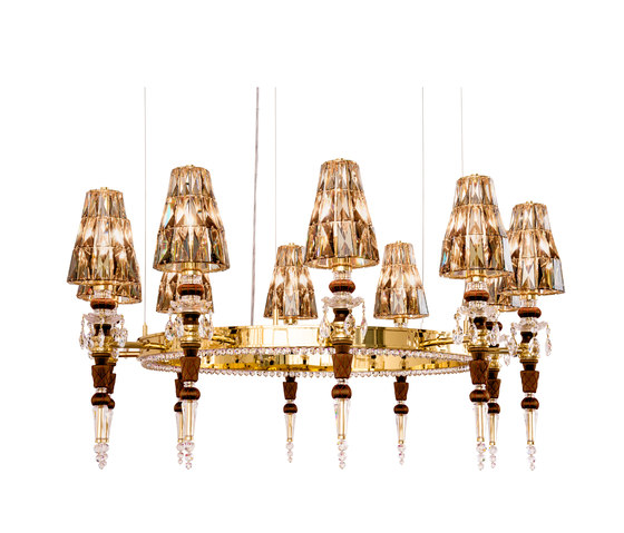 Lula 10 round Passement gold by Windfall | Chandeliers