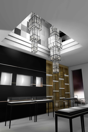 "Bespoke Chandelier ""Montblanc"" by Windfall 