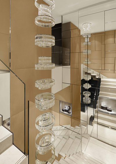 """Bespoke Chandelier """"Montblanc Naples"""" by Windfall 