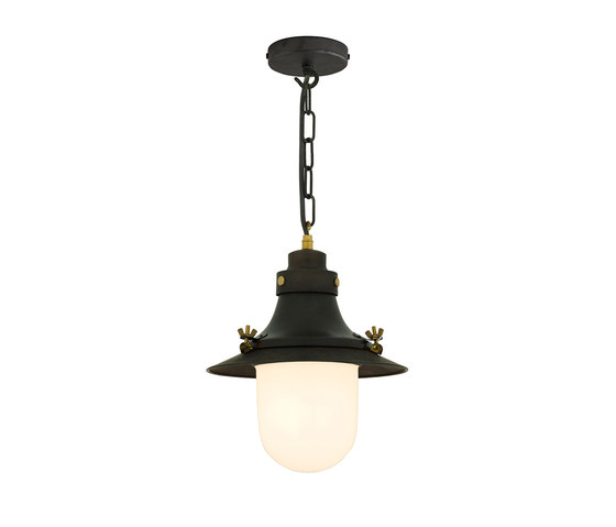 7125 Ship's Small Decklight, Weathered Copper, Opal Glass by Original BTC | Suspended lights