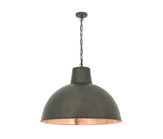 7163 Spun Reflector, Large, Weathered/Polished Copper Interior di Original BTC | Lampade sospensione