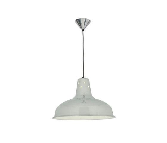 7201 Factory Light Polished Aluminium White Interior di Original BTC | Lampade sospensione