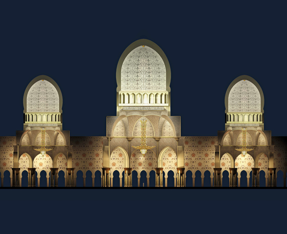 """Bespoke Chandelier """"Sheikh Zayed Grand Mosque"""" by Windfall 
