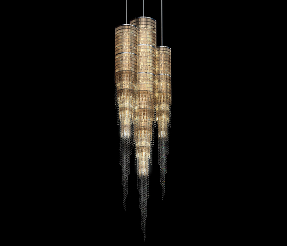 """Bespoke Chandelier Staircase """"Savoy"""" by Windfall 