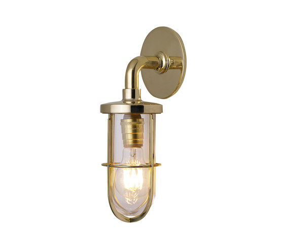 7207 Weatherproof Ship's Well Glass, Polished Brass, Clear Glass by Original BTC | Wall lights