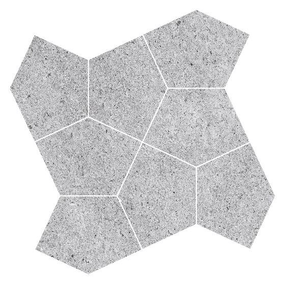 Grecale Acciaio Mosaico de Refin | Carrelage céramique