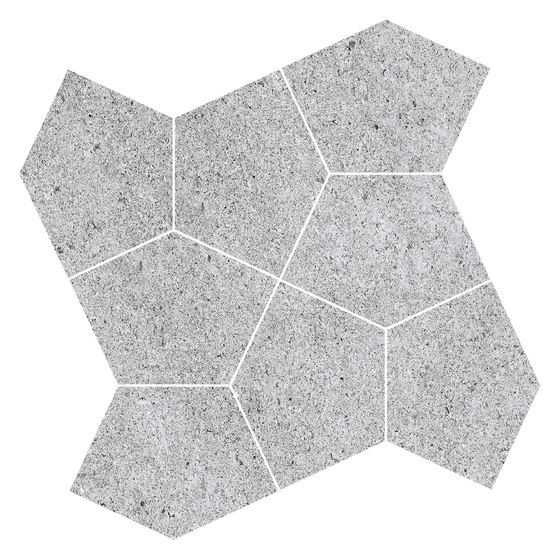 Grecale Acciaio Mosaico von Refin | Keramik Fliesen