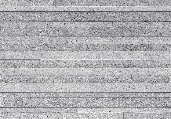 Grecale Acciaio Muretto 3D by Refin | Ceramic tiles