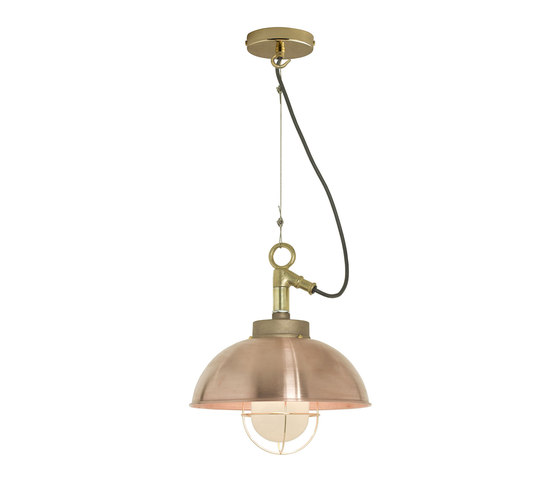 7222 Shipyard Pendant, Copper, Frosted Glass di Original BTC | Lampade sospensione