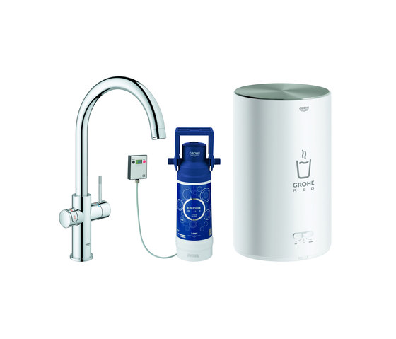 GROHE Red Duo Faucet and M size boiler by GROHE | Kitchen taps