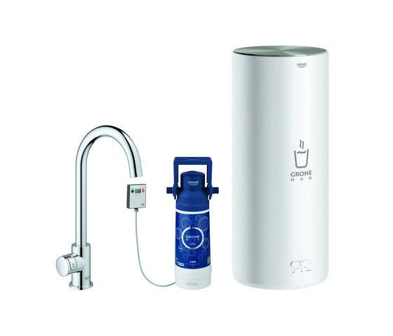 GROHE Red Mono Pillar tap and L size boiler by GROHE | Kitchen taps