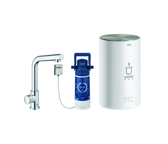 GROHE Red Mono Pillar tap and M size boiler by GROHE | Kitchen taps