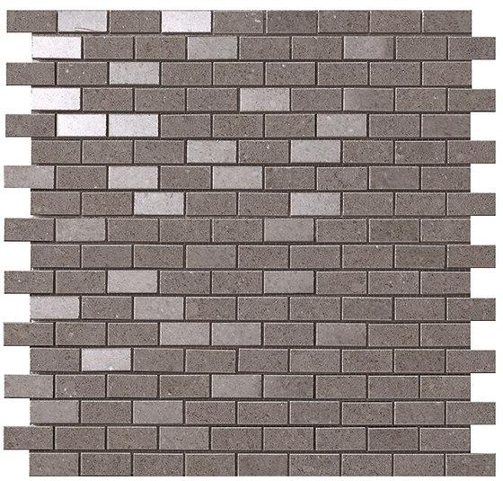 Kone grey brick mosaico de Atlas Concorde | Mosaicos de cerámica