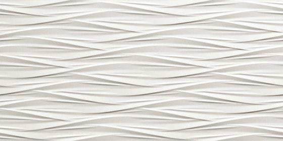 3D Wall White Wind von Atlas Concorde | Keramik Fliesen