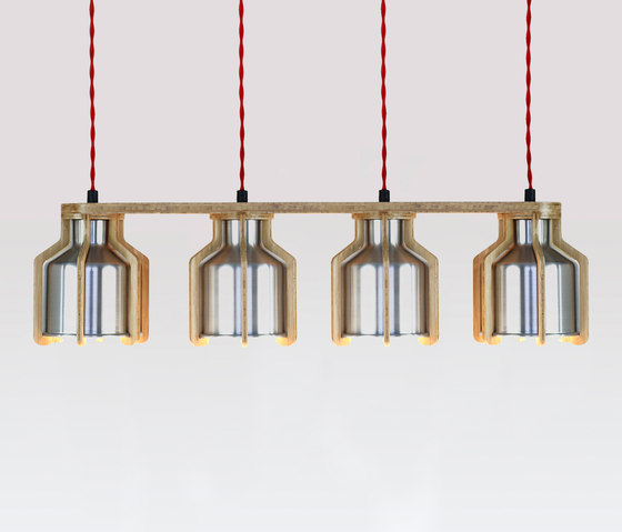Cell | Quadruplet Pendant by Liqui Contracts | Suspended lights