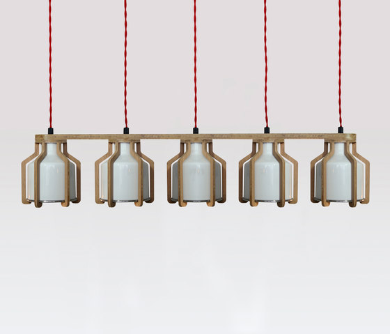 Cell | Quintuplet by Liqui Contracts | Suspended lights