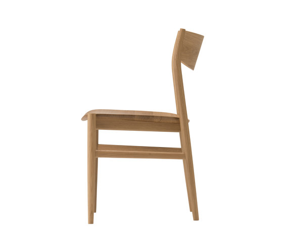 KAMUY Armless Chair wood seat di Conde House | Sedie