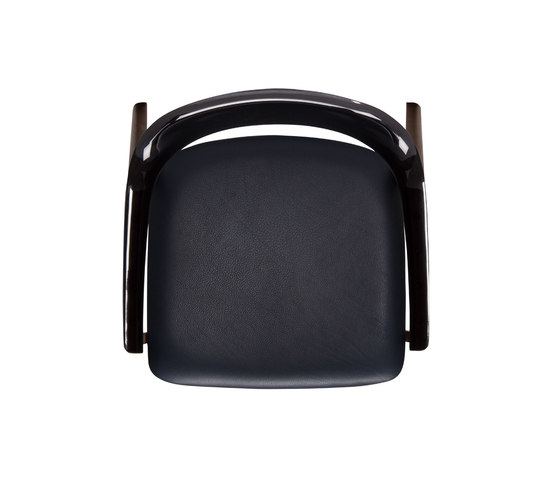 TEN Armchair Black Resin Back upholstered seat di Conde House | Sedie