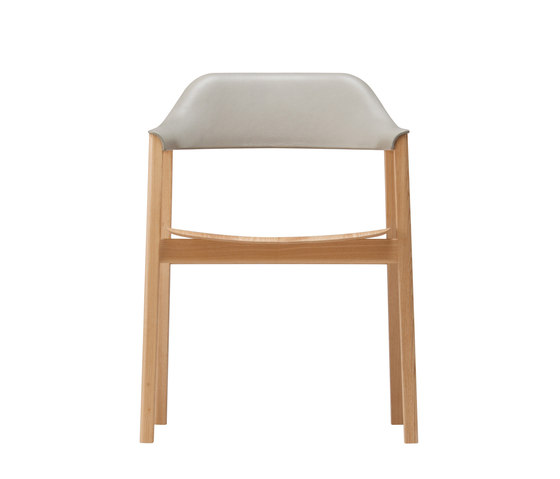 TEN Armchair Upholstered Back wood seat di Conde House | Sedie