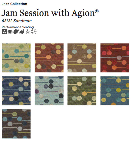 Jam Session with Agion® by CF Stinson | Upholstery fabrics