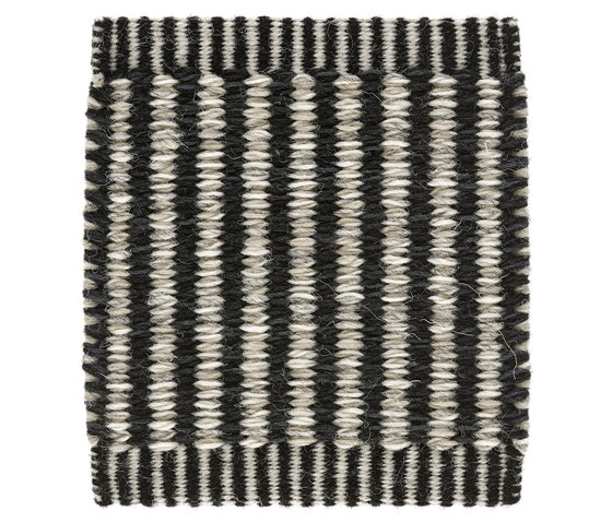 Häggå Markus | Stripes 981 Almost Black Winter-Landscape 9537-9835 by Kasthall | Rugs