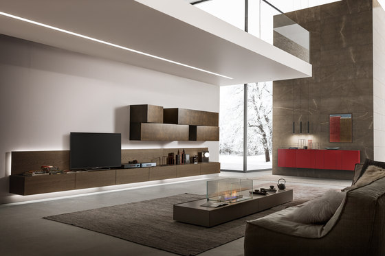 InclinART_372 by Presotto | Wall storage systems