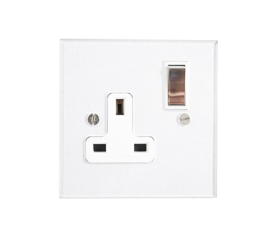 Invisible single 13amp socket with Unlacquered Brass switch di Forbes & Lomax | Prese inglesi