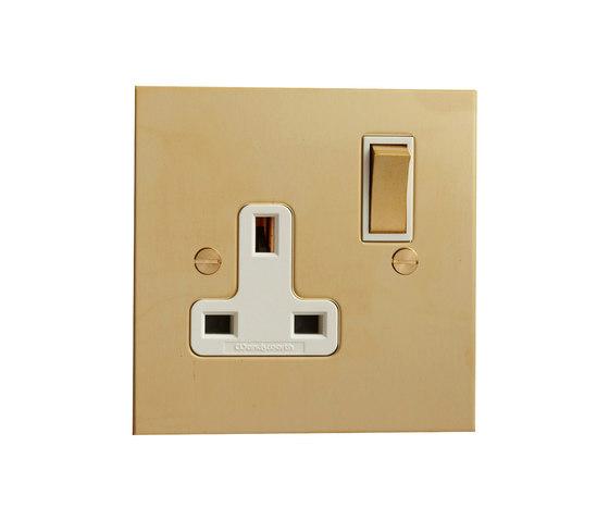 Unlacquered Brass single 13amp socket di Forbes & Lomax | Prese inglesi