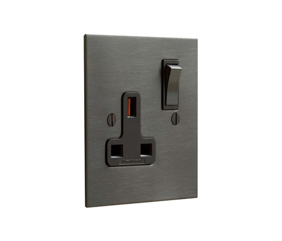 Antique Bronze single 13amp socket by Forbes & Lomax | British sockets
