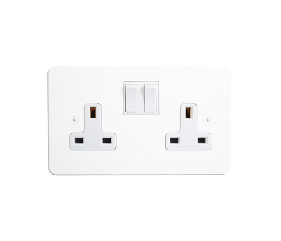 Painted double 13amp socket by Forbes & Lomax | British sockets