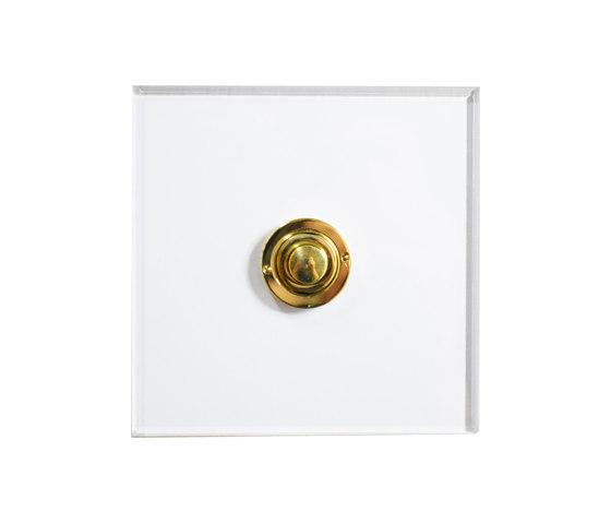 Invisible Lightswitch® with Unlacquered Brass button dimmer di Forbes & Lomax | interuttori pulsante