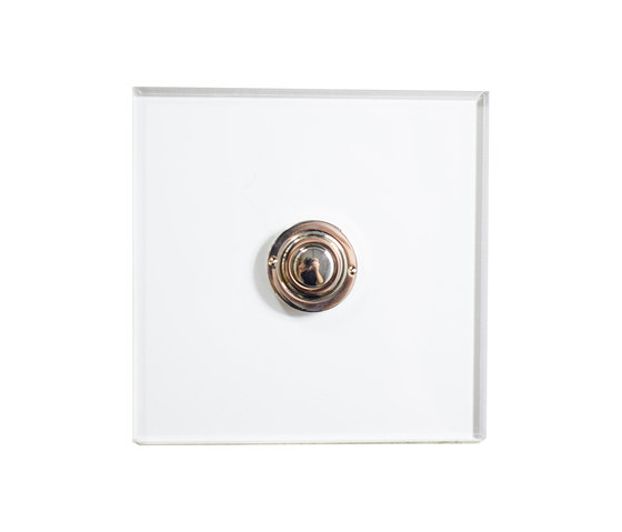 Invisible Lightswitch® with Nickel Silver button dimmer di Forbes & Lomax | interuttori pulsante