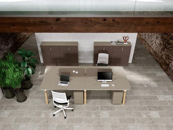Atreo Wood de ALEA | Separadores de mesa