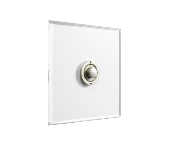 Invisible Lightswitch® with Stainless Steel button dimmer by Forbes & Lomax | Push-button switches