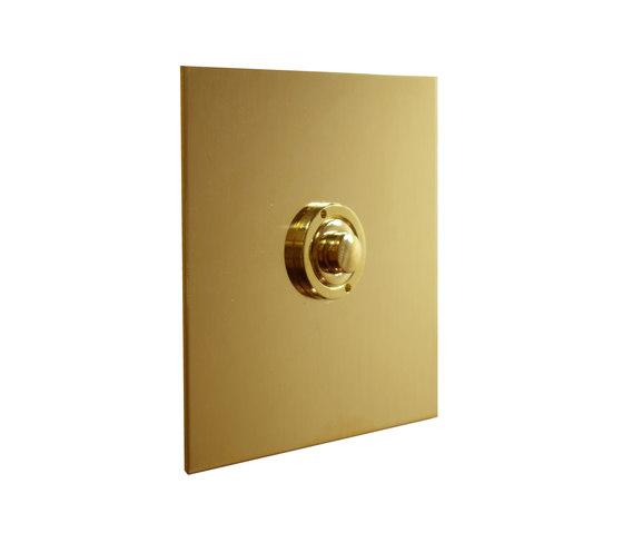 Unlacquered brass button dimmer di Forbes & Lomax   interuttori pulsante