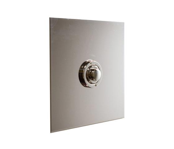 Nickel Silver button dimmer di Forbes & Lomax | interuttori pulsante