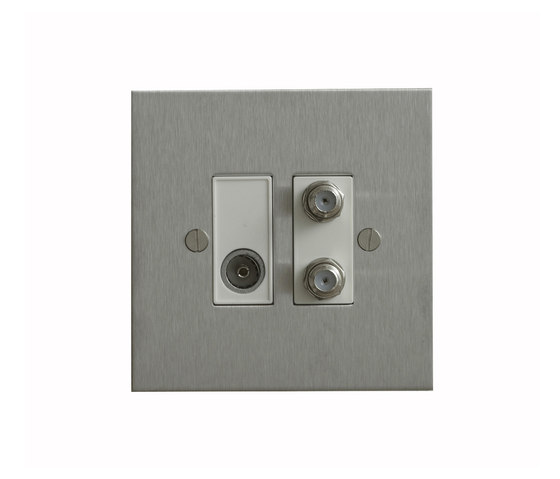 Stainless Steel TV and Satellite socket di Forbes & Lomax | Prese multimediali