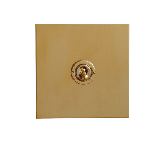Unlacquered brass dolly switch by Forbes & Lomax | Toggle switches