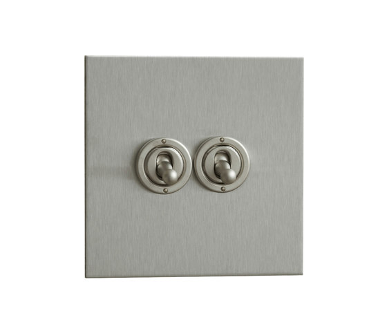 Stainless Steel two gang dolly switch di Forbes & Lomax | Interruttori leva