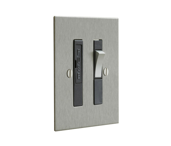 Stainless Steel switched fused spur with black insert di Forbes & Lomax | Sistemi sicurezza